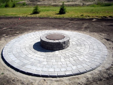 Basic Circle Patio and Firepit