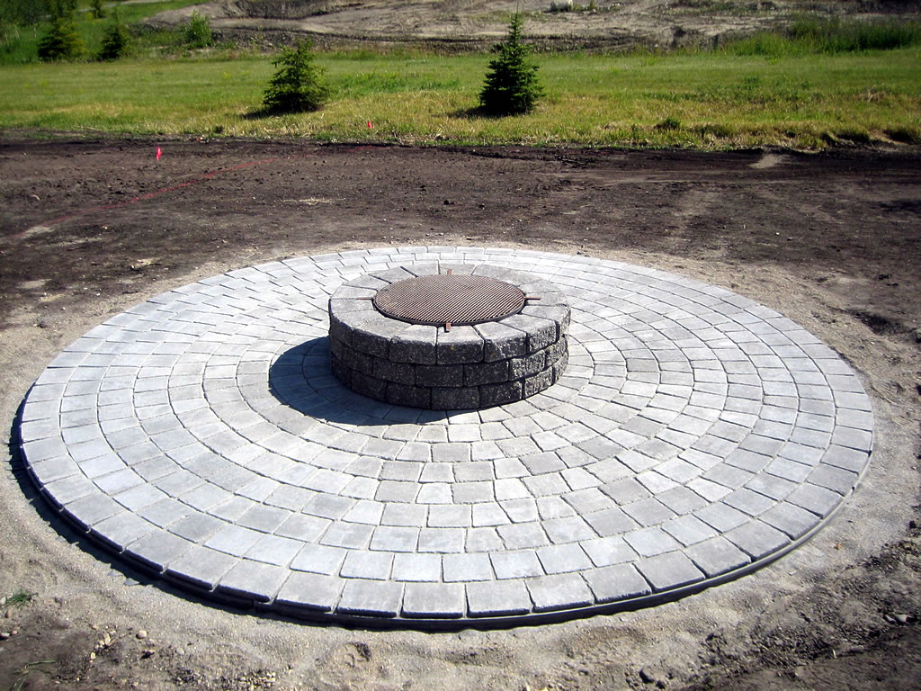 Basic Circle Patio And Firepit Morgan K Landscapes