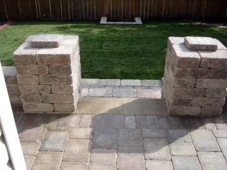 Brick Pillars with Steps