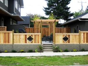 Custom Cedar Fencing and Pergola