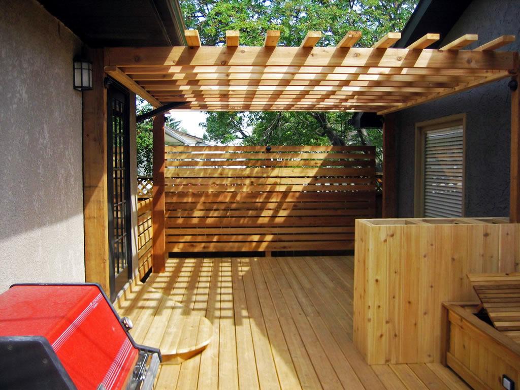Custom Cedar Sitting Area