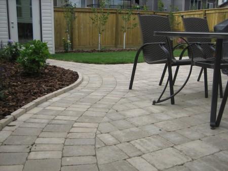 Calgary Brick Patio With Planter
