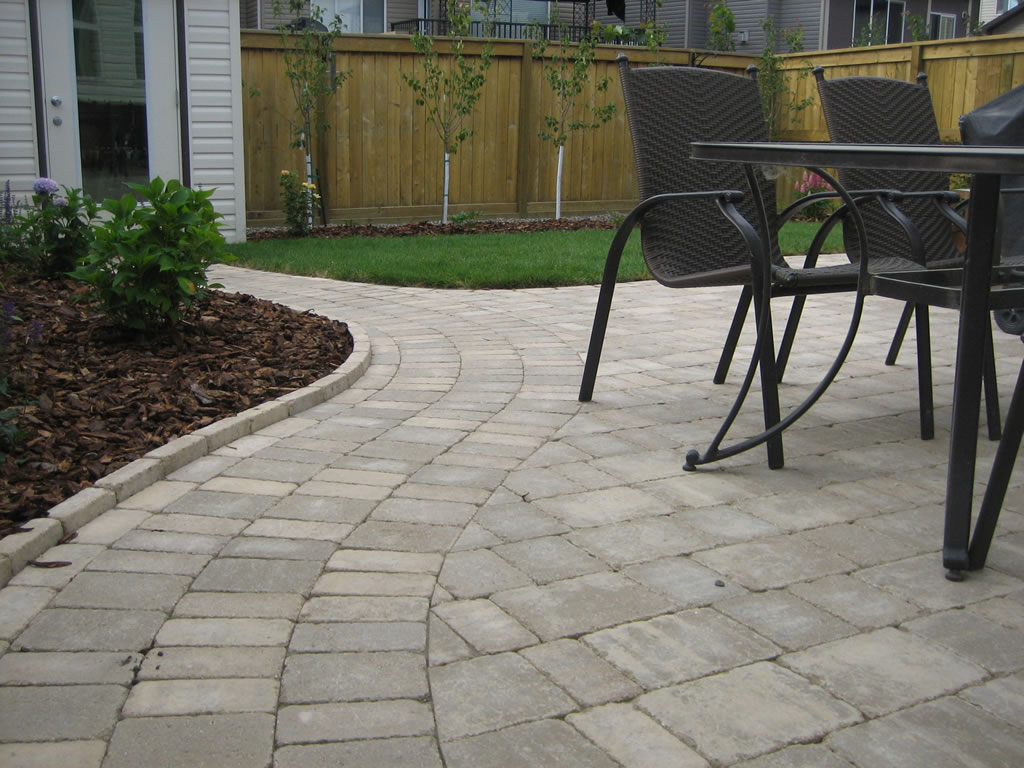 Landscaping Bricks Calgary : Calgary brick patio with planter morgan k landscapes