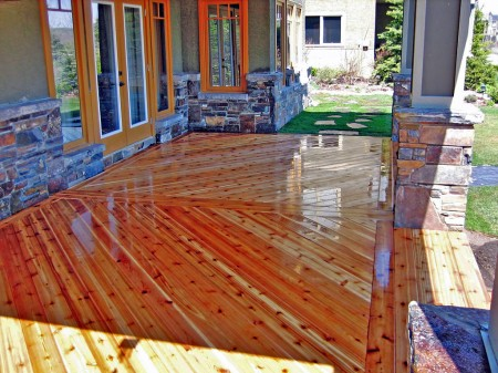Calgary Cedar Deck on 45 Degrees