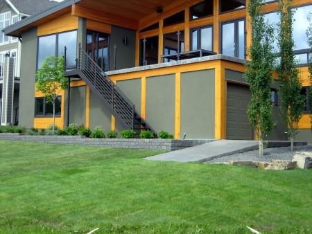 Custom lake house