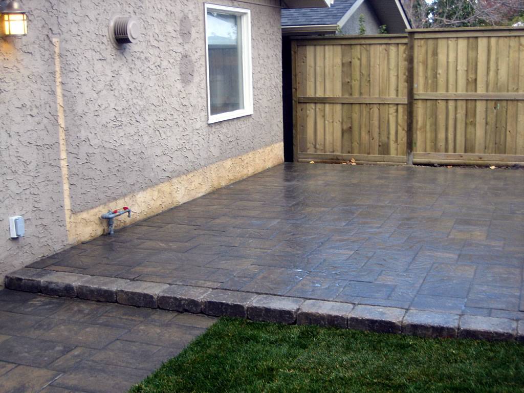 Backyard Patio Tiles : Large Tile Brick Patio  Morgan K Landscapes