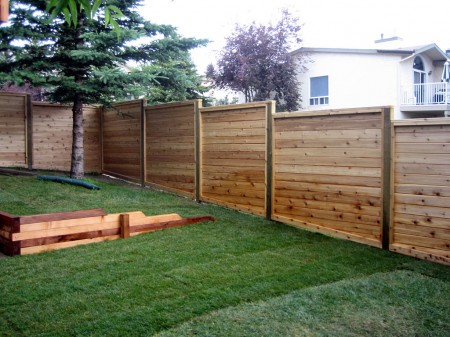 Modern Style Cedar Fencing