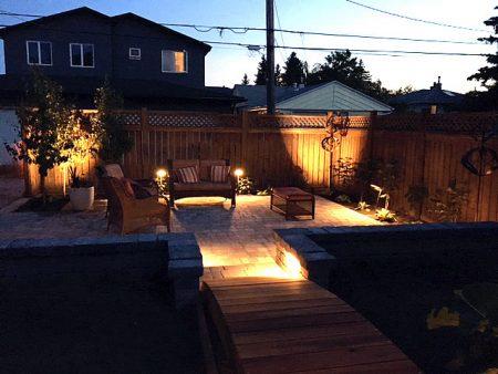 Rear Yard Lighting