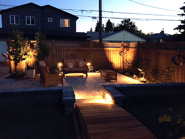 Rear Yard Lighting