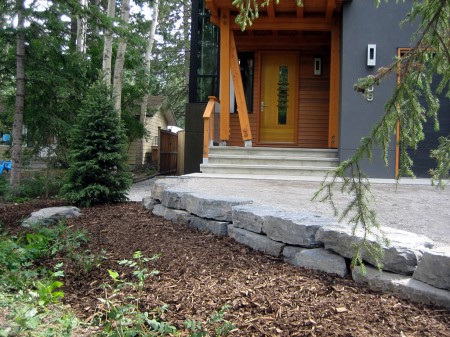 Rundle Stone Retaining Wall