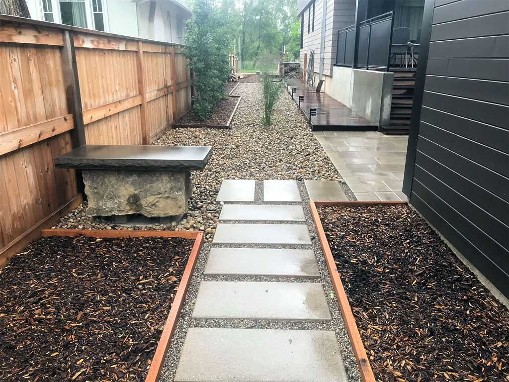 Side Yard With Slab Walkway