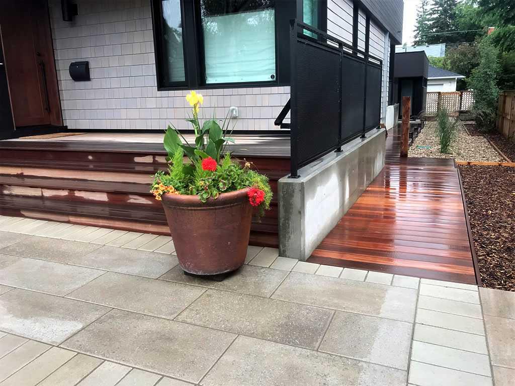 Slab Patio Wood Boardwalk