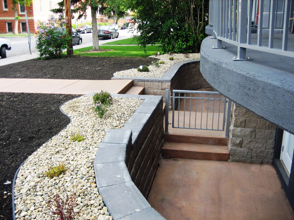 Brick Retaining Wall with Steps
