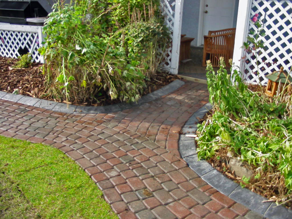 Brick Walkway with Curbing