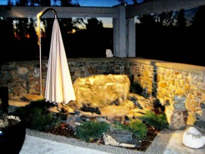 Downlight on Water Feature