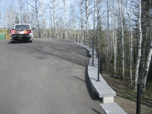Driveway on Retaining Wall