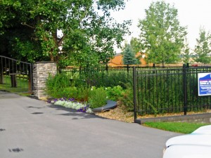 Gated Front Entrance
