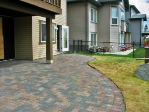 Multi-colored Brick Patio